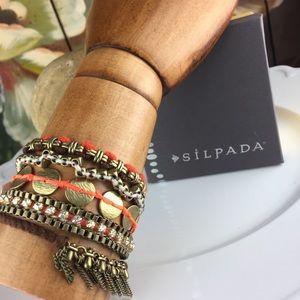 NEW Silpada Magic Carpet Swarovski Brass Bracelet